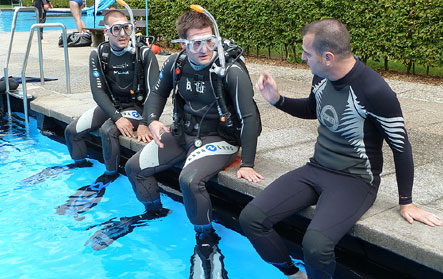 diving training for teens & adultes